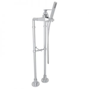 ROHL - VINCENT EXPOSED FLOOR MOUNT TUB FILLER WITH HANDSHOWER AND FLOOR PILLAR LEGS OR SUPPLY UNIONS #AKIT3001