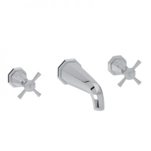 ROHL - PERRIN & ROWE® DECO WALL MOUNTED WIDESPREAD LAVATORY FAUCET #U.3171