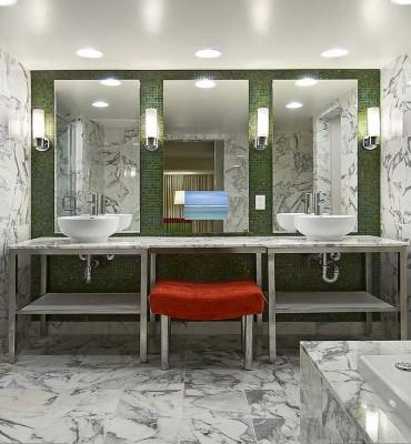 Loft Bathroom TV Mirrors
