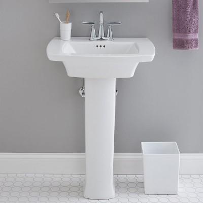 Edgemere Pedestal Sinks – 4 Inch Centers