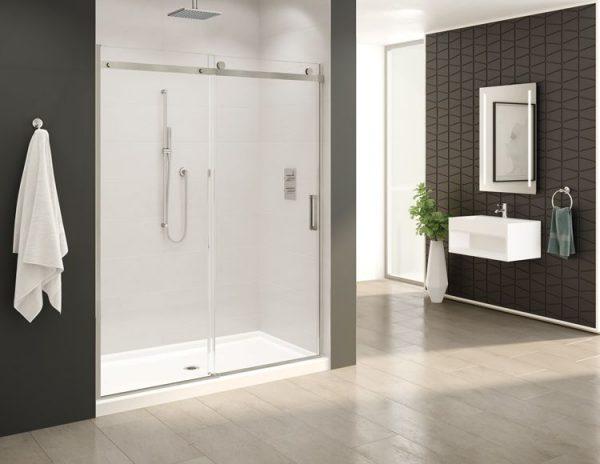 Fleurco Horizon In-Line Sliding Door And Fixed Panel
