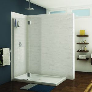 Fleurco Monaco Square Top Shower Shield With Fixed Panel