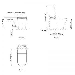 Axent W330-0431-U1 Primus Tankless Toilet