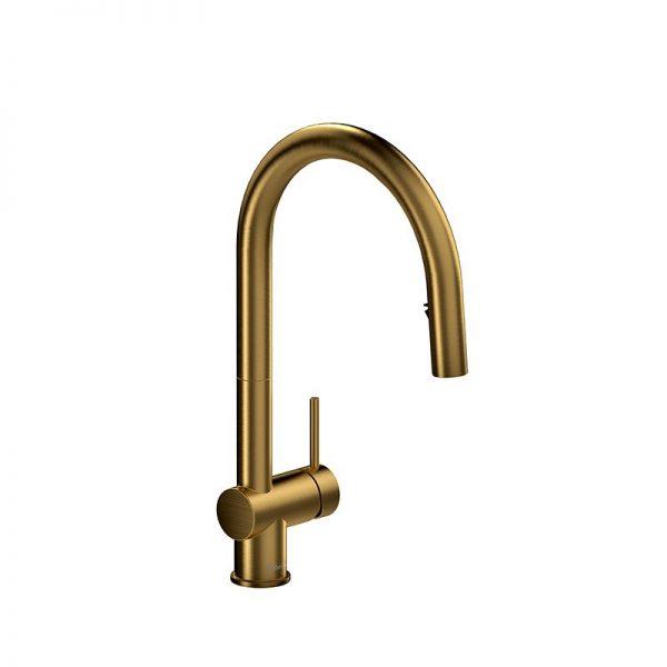 Riobel AZ201BG Azure Kitchen Faucet Brushed Gold