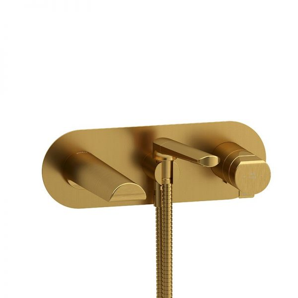 Riobel PB21 Parabola Wall-Mount Tub Filler With Hand Shower