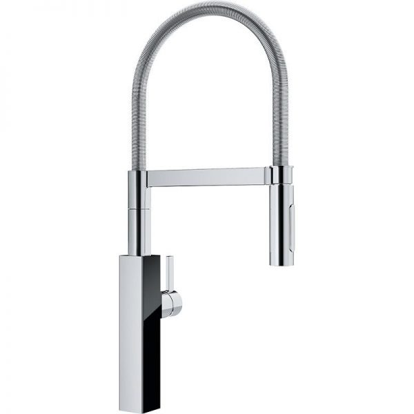 Franke Crystal FFPD4600 Single Hole Kitchen Faucet chrome black glass