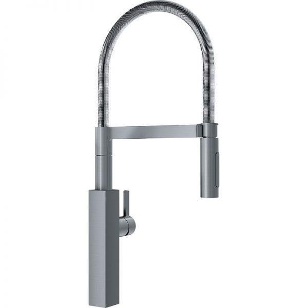 Franke Crystal FFPD4600 Single Hole Kitchen Faucet satin nickel