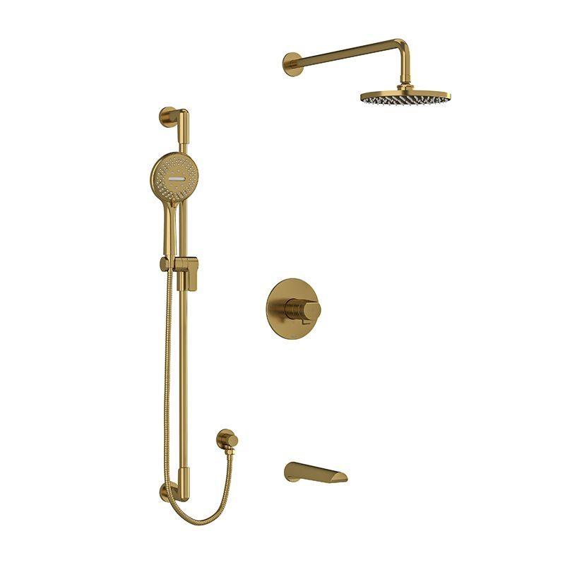 Riobel KIT1345PBBG Shower Kit In Brushed Gold