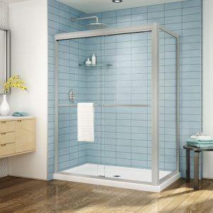 Fleurco Cordoba Plus 2 Sided Shower Door Brushed Nickel