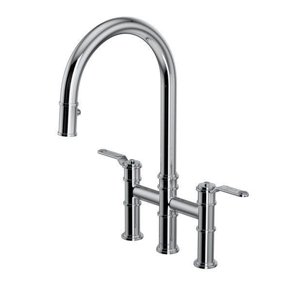 Perrin & Rowe U.4549HT-APC-2 Armstrong Bridge Kitchen Faucet