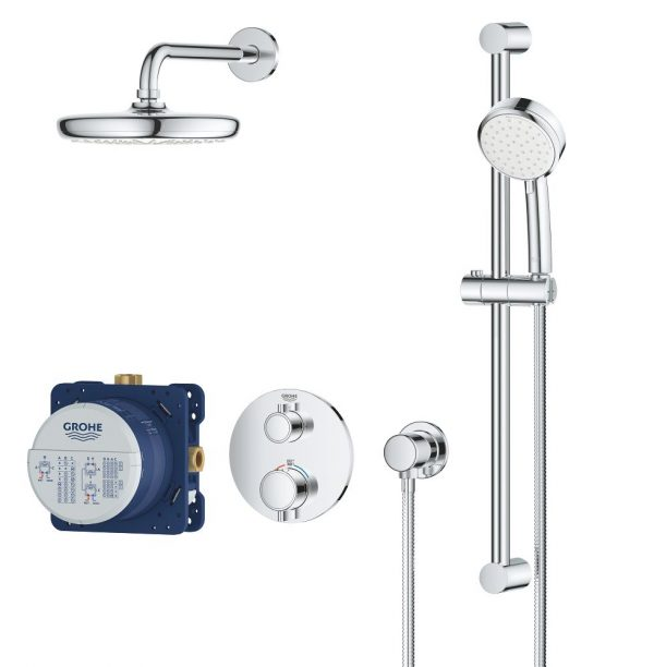 Grohe 34745000 Grohtherm Cube Shower Set Shower Kit