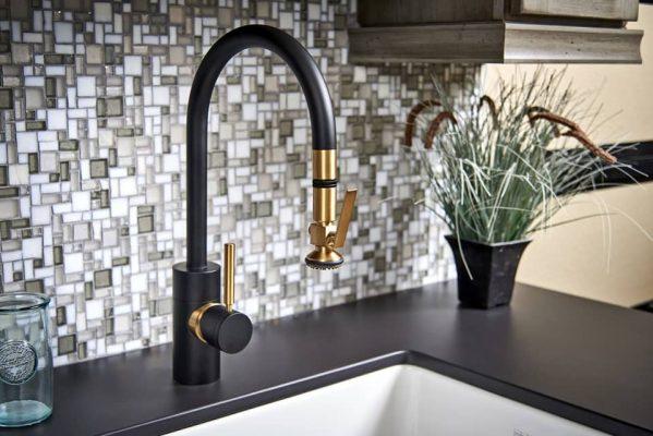 waterstone kitchen faucet split finish
