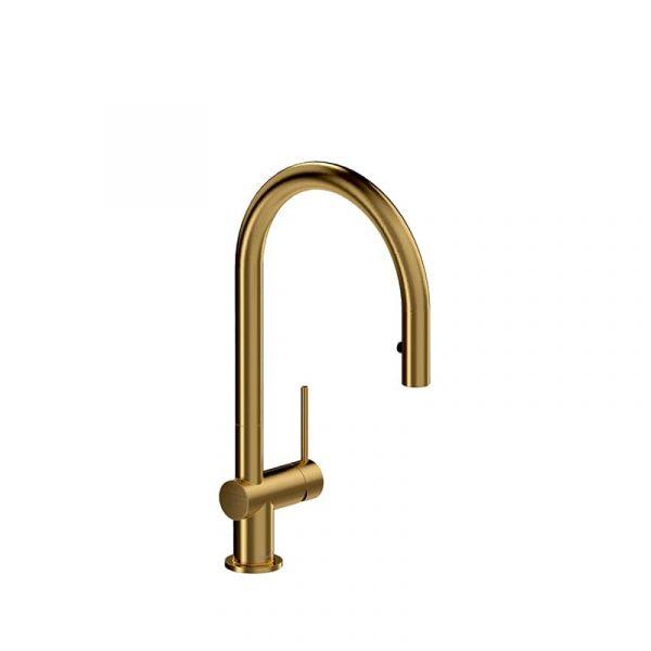 Riobel AZ101BG Azure Brushed Gold Kitchen Faucet With Spray