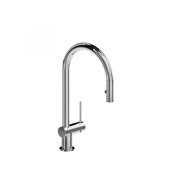 Riobel AZ101C Azure Chrome Kitchen Faucet With Spray