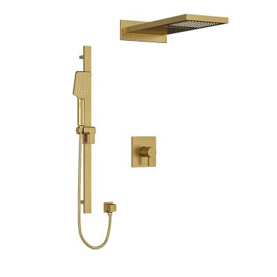 Riobel KIT#2745PXTQBG MOMENTI KIT#2745MMRDJBG Brushed Gold Shower Kit