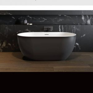 Maax Tosca Freestanding Bathtub in Black