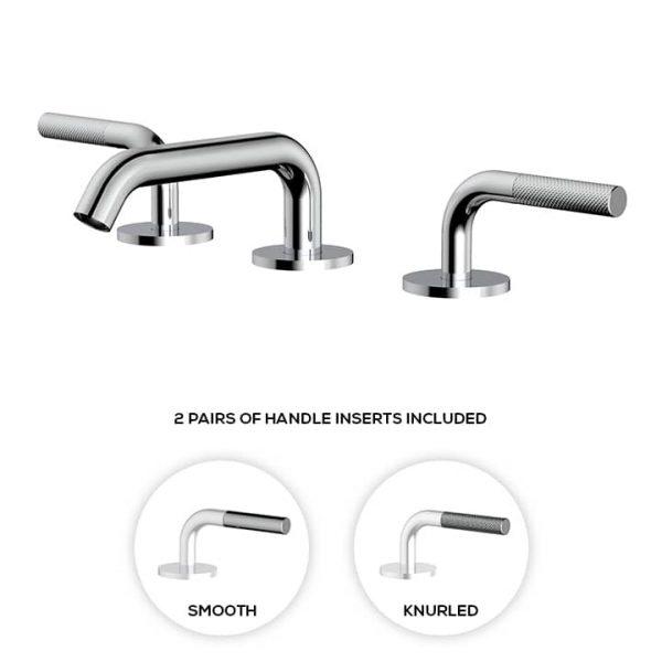 Aquabrass MB210 Widespread Lavatory Faucet Chrome