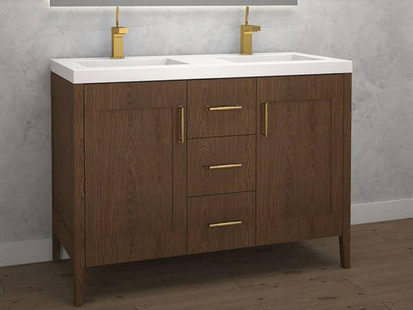 Madeli Encore 48 Inch Double Sink Vanity Brandy