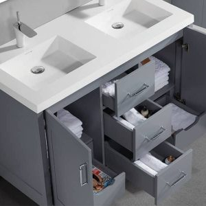 Madeli Encore 48 Inch Double Sink Vanity Open