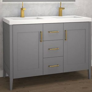 Madeli Encore 48 Inch Double Sink Vanity Studio Grey