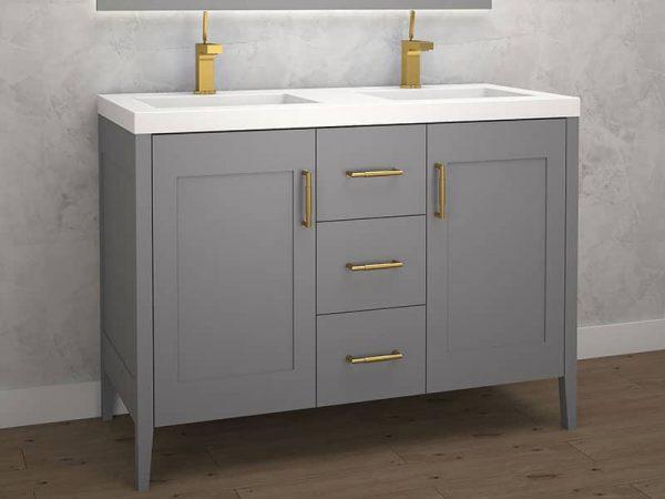 Madeli Encore 48 Inch Double Sink Vanity Studio Grey