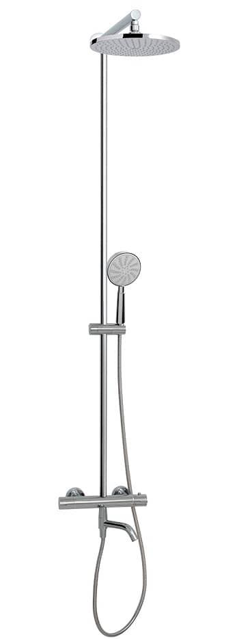 Aquabrass 62335 Tila Thermostatic Shower Column Polished Chrome