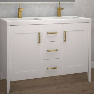 Madeli Encore 48 Inch Double Sink Vanity Matte White