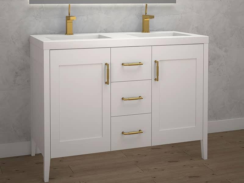 Madeli Encore 48 Inch Double Sink, Double Sink 48 Inch Bathroom Vanity