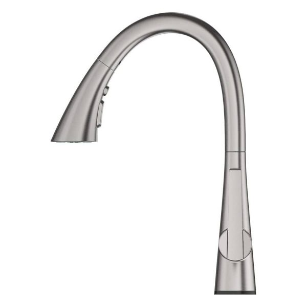 Grohe 30205DC2 LadyLux L2 Pull Down Kitchen Faucet Triple Spray SuperSteel Infinity Finish