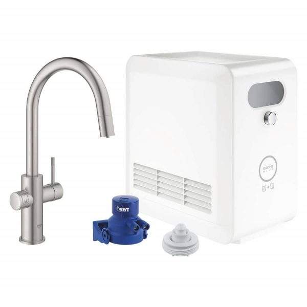Grohe 31251DC2 Blue Kitchen Faucet SuperSteel Finish
