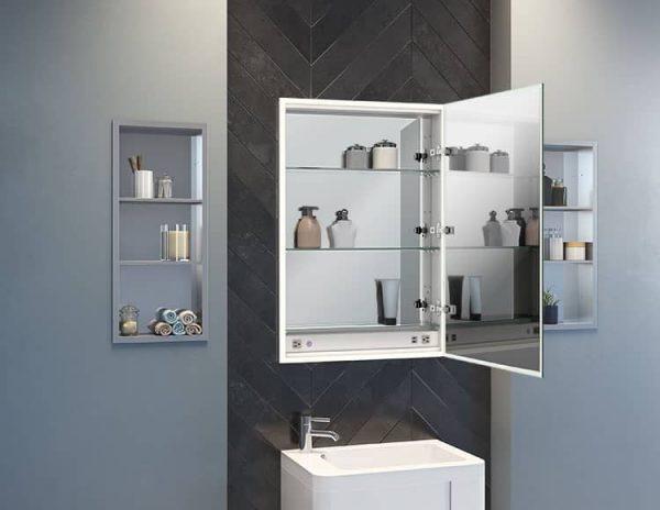 Fleurco MCHS2436-14 Halo Single View LED Medicine Cabinet