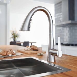 Grohe 30368DC2 LadyLux L2 Bar Kitchen Faucet SuperSteel Finish
