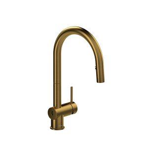 Riobel AZ211BG Azure Touchless Kitchen Faucet In Brushed Gold