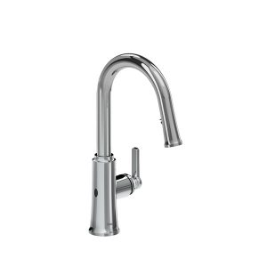 Riobel TTRD111C Trattoria Pull-Down Touchless Kitchen Faucet In Chrome