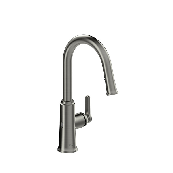 Riobel TTRD111SS Trattoria Pull-Down Touchless Kitchen Faucet In Stainless Steel