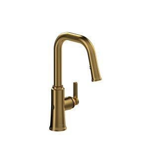 Riobel TTSQ111BG Trattoria Touchless Kitchen Faucet Brushed Gold