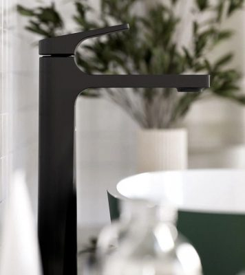 Riobel ODL01Bk Vessel Bathroom Faucet