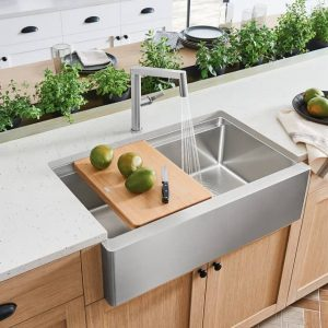 Blanco 402254 Quatrus R15 Ergon Apron Front Stainless Steel Sink